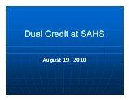 Dual Enrollment/Dual Credit Courses Presentation