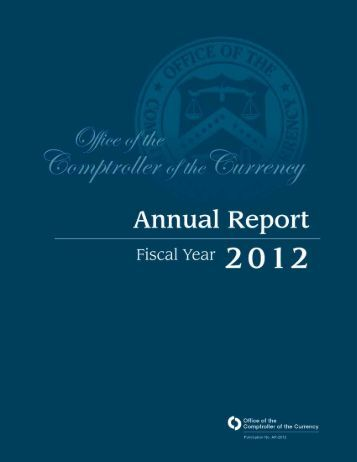 OCC Annual Report, FY 2012 - Department of the Treasury
