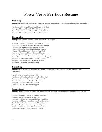 verbs for resumes action verbs resume the best resume resume