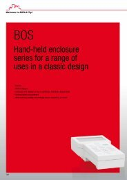 Hand-held enclosure series for a range of uses in a classic design