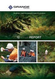2012 Annual Report (2 April 2013) - Grange Resources