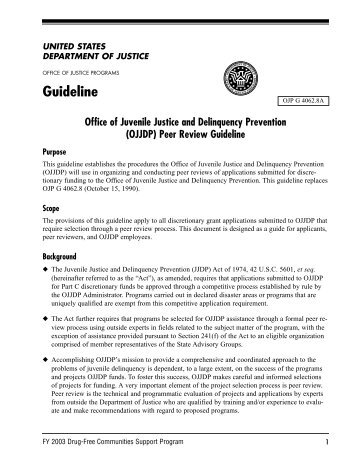 Guideline - Office of Juvenile Justice and Delinquency Prevention