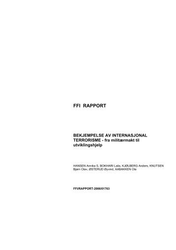 Bekjempelse av internasjonal terrorisme - Forsvarets forskningsinstitutt