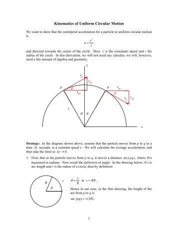 Worksheet: Acceleration for Uniform Circular Motion