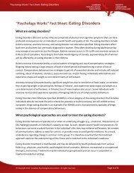 Eating Disorders - Canadian Psychological Association