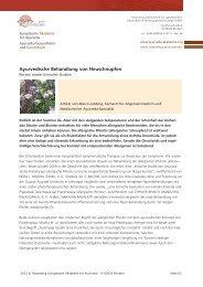 Ayurvedische Behandlung von Heuschnupfen - Europäische ...