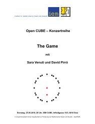 The Game - Institut für Elektronische Musik und Akustik