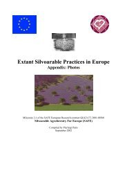 Milestone 2 : Extant silvoarable practices in Europe - INRA Montpellier