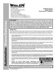 13326: PAH112 Power Airhorn™ Amplifier - Whelen Engineering