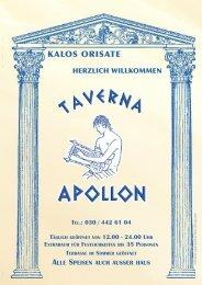 KALOS ORISATE - Taverna Apollon