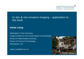 In situ & non-invasive imaging – application to the book - Booknet