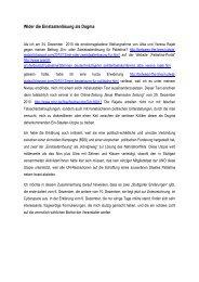 Wider die Einstaatenlösung als Dogma (30.12.2010) - Ludwig Watzal