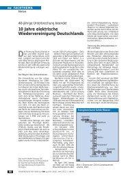 10 Jahre elektrische Wiedervereinigung ... - Walter Schossig Home