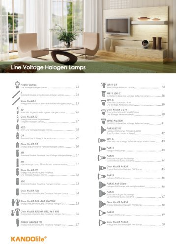 Line Voltage Halogen Lamps - Prosperity Lamps & Components ...