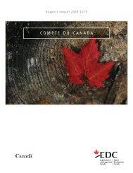 Rapport annuel - Compte du Canada 2009-2010 - EDC