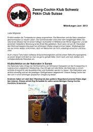 2012 Mitteilung Juni 2013 - Zwerg-Cochin Klub Schweiz