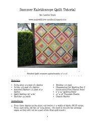 Summer Kaleidoscope Quilt Tutorial - Riley Blake Designs