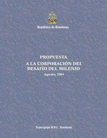 Propuesta de Honduras a MCC 2004 - Cuenta del Milenio - Honduras
