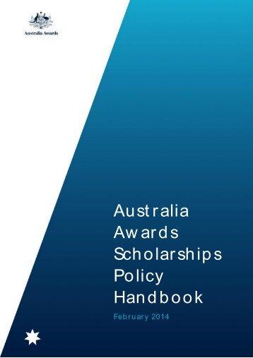 Australia Awards Handbook
