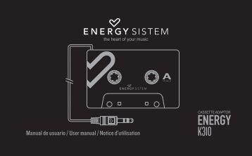 Manual de usuario / User manual / Notice d'utilisation - Energy Sistem