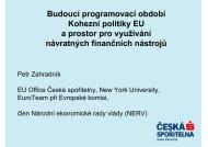 Budoucí programovací období Kohezní politiky EU ... - Veřejná správa