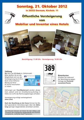 Sonntag, 21. Oktober 2012 in 26553 Dornum, Kirchstr. 11 ...