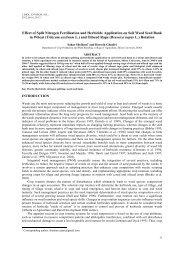 Effect of Split Nitrogen Fertilization and Herbicide Application on Soil ...
