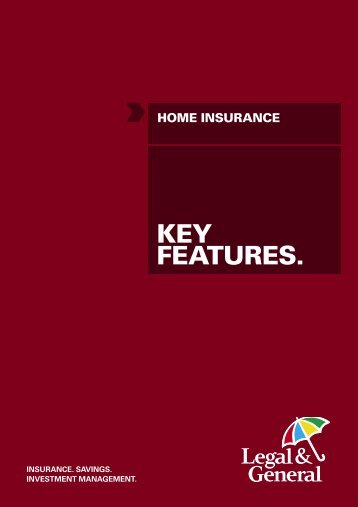 home insurance policy key features - Legal & General