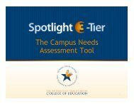The Campus Needs Assessment Tool