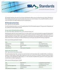 SIA Standards Committee Activities Overview - Security Industry ...