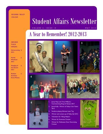 Student Newsletter May 2013 - Missouri Valley College