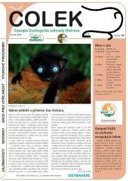 časopis Čolek podzim 2009 - Zoo Ostrava