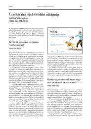 A csonttörés elleni teljes körû védelem szükségessége - MRT-OS