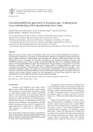 Unravelling MADS-box gene family in Eucalyptus spp.: A starting ...