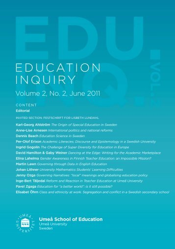 EDUCATION INQUIRY