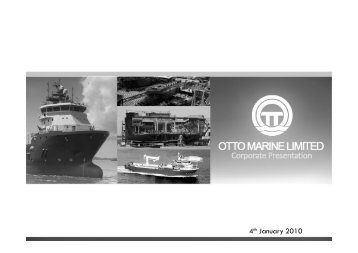 Part 1 - Otto Marine Limited