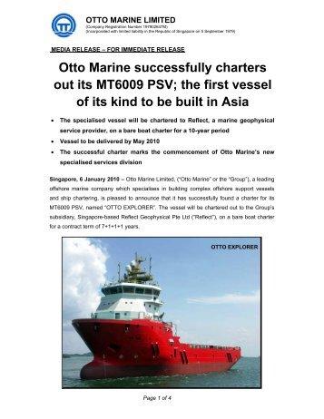 Attachment 1 - Otto Marine Limited