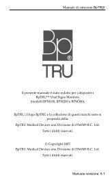 Manuale di istruzioni BpTRUl - Strumedical.com