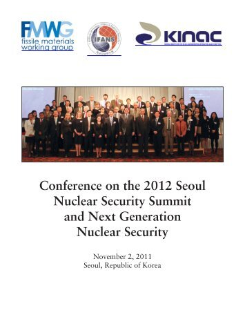 Conference on the 2012 Seoul Nuclear Security Summit and Next ...
