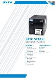 SATO SP40 III - AutoID Shop