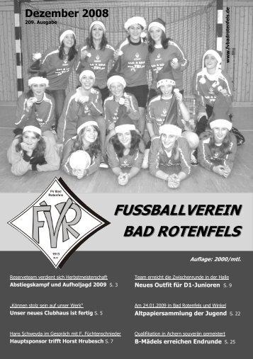 Ausgabe Dezember 2008 - FV Bad Rotenfels