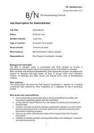 Job Description for Administrator - The Breastfeeding Network