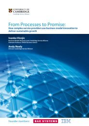 From Processes to Promise: - Cambridge Service Alliance