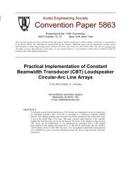 Practical Implementation of Constant Beamwidth Transducer (CBT ...