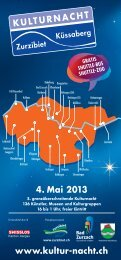 4. Mai 2013 www.kultur-nacht.ch KULTURNACHT