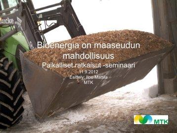 Ilpo Mattila - Maaseutupolitiikka