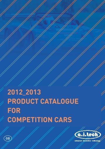 2012_2013 product catalogue for competition cars - Walkers Garage