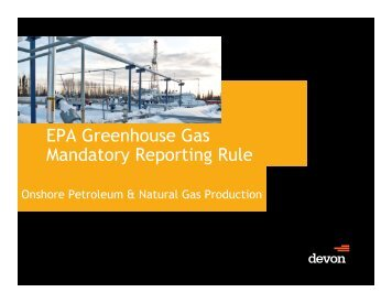 EPA Greenhouse Gas Mandatory Reporting Rule - OIPA