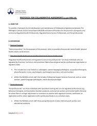 Protocol for Collaborative Agreements - Wellington Catholic