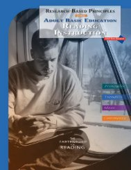 Research-Based Principles for Adult Basic Education Reading ...
